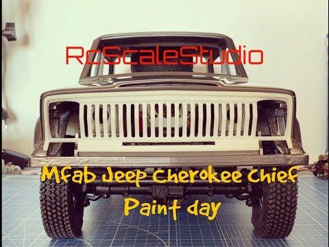 Rc Scale Studio Mfab Jeep Cherokee Chief Paint Day