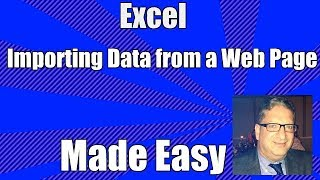 Importing Data from a web page into Excel - How to import from a web page into Excel 2010,2013,2016