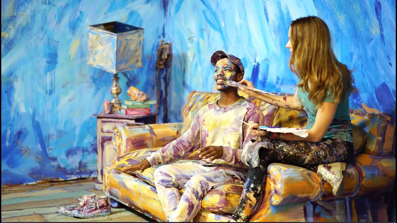 """Color of Reality"" Behind the scenes of Alexa Meade painting Jon Boogz and Lil Buck"