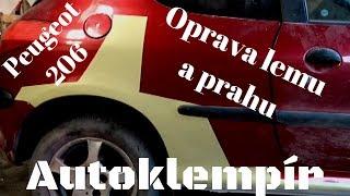 Peugeot 206 Oprava lemu a prahu (Car body repair)
