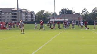 Alabama defensive backs at practice - August 23