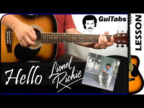 How to play Hello 💘 - Lionel Richie / Guitar Tutorial 🎸