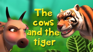 The Cows and the Tiger | Stories for Kids | Infobells thumbnail