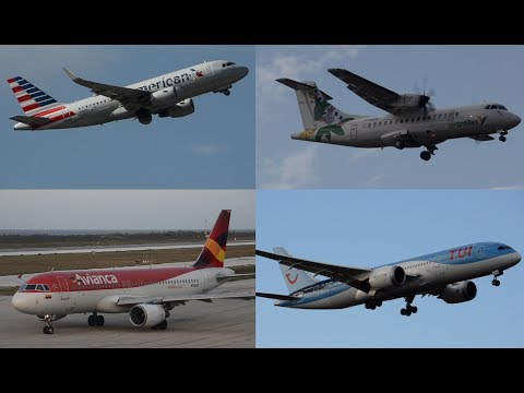 [HD]20 minutes+ of amazing Plane Spotting - Curacao International Airport