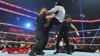 The Shield Triple Power Bombs Mark Henry: Raw, July 15, 2013