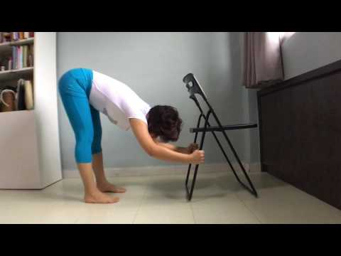 Chair Yoga | Standing Forward Bend | YogaMekhala