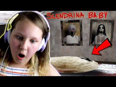 SLENDRINA'S BABY FOUND!! GRANNY HIDES in Slendrina: Asylum Game (ENDING)