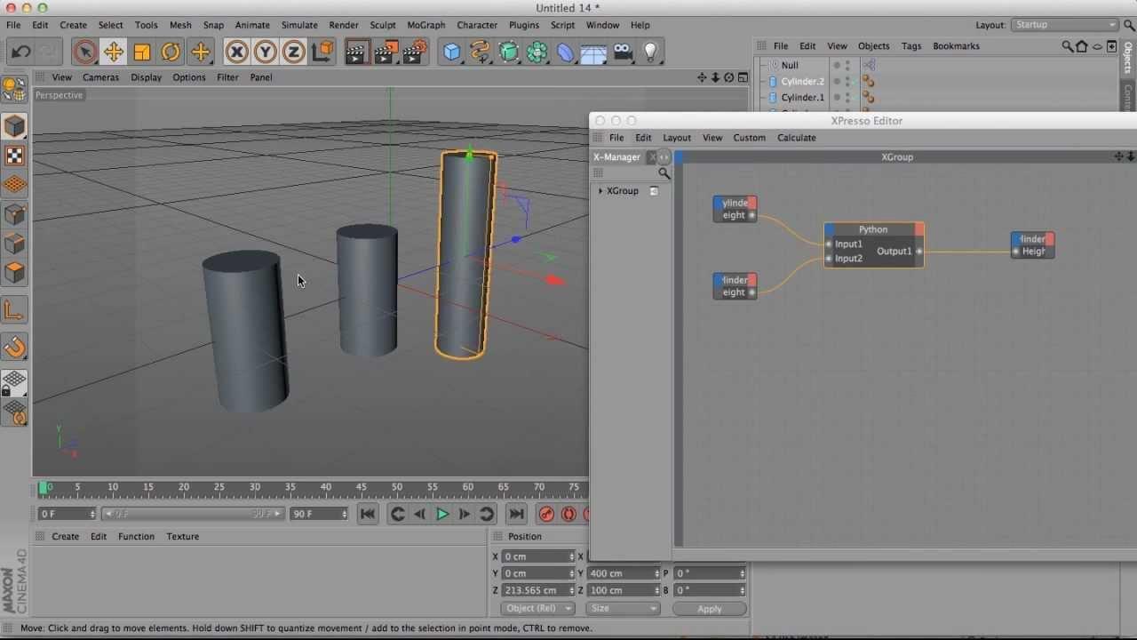 Cinema 4D training tutorial - Basic Xpresso