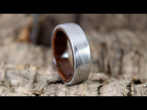 Making A Damascus Steel & Wood Ring