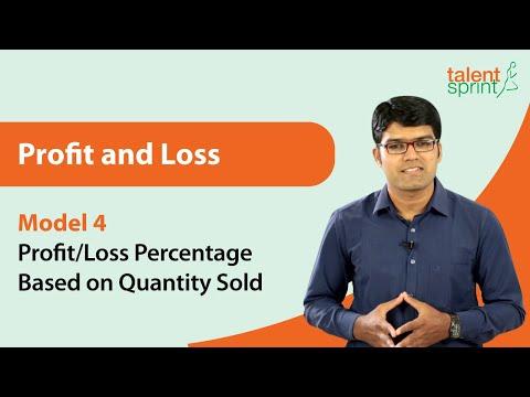 Profit And Loss | Basic Model 4 - Profit/Loss Percentage Based On Quantity Sold | TalentSprint