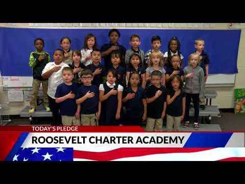 Roosevelt Charter Academy first grade Pledge of Allegiance
