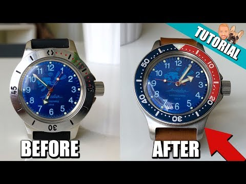 EASY Vostok Amphibia Watch Mods (How To) - Bezel, Strap and Case Brushing