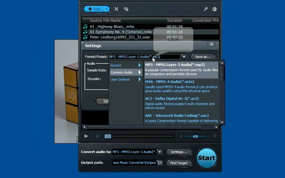 how to convert music file such as WAV, WMA, M4A to MP3 ...