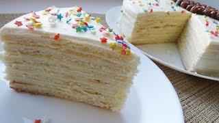 творожный многослойный торт