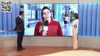 Reportagem sobre acidente com celular