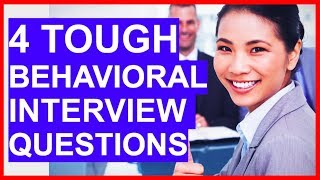 Download lagu 4 TOUGH Behavioral Interview Questions and ANSWERS!
