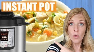Instant Pot Chicken Noodle Soup (5 Minute Cooking Time)