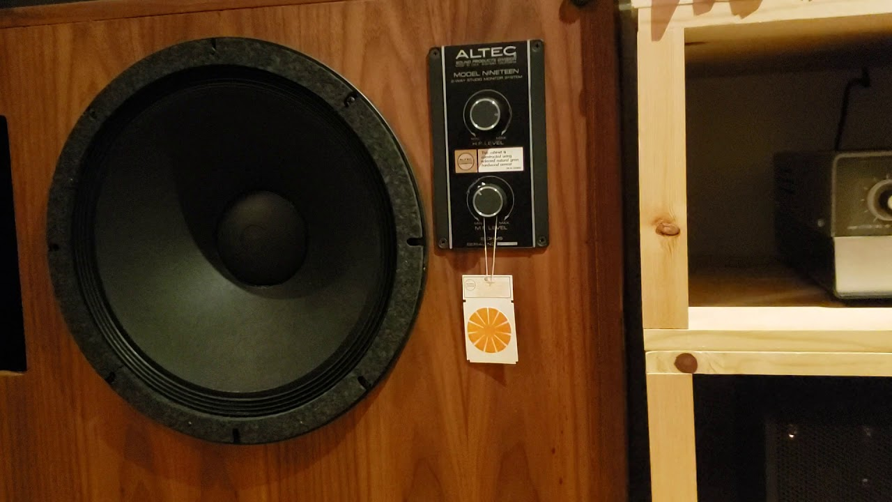 Branko Sound Presents Altec Lansing Model 19 HF verified