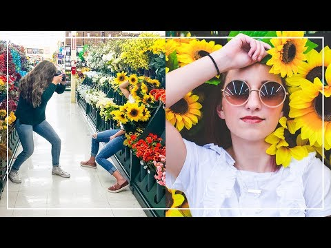 Kamri and Bailey Get KICKED OUT of Hobby Lobby? | Craft Store Photoshoot