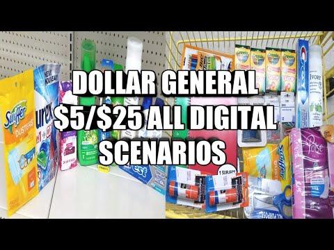 DOLLAR GENERAL $5/$25 ALL DIGITAL DEALS