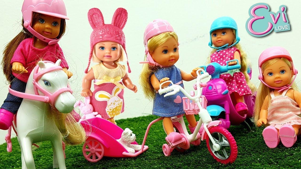 Bamboline Evi Love: Piccole Barbie Sulle Moto - Giochi Per Bambine