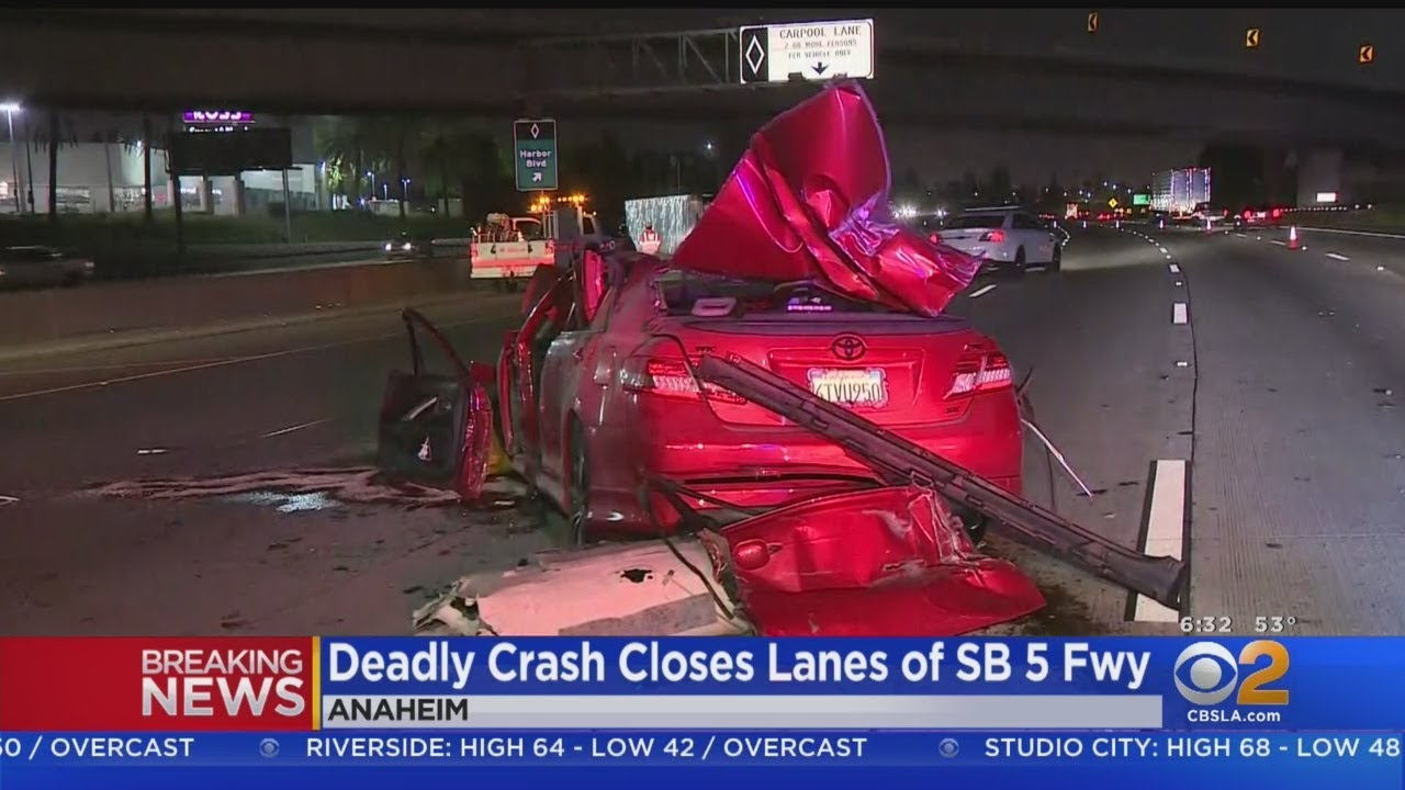 Passenger Killed In Suspected DUI Crash On 5 Freeway In Anaheim