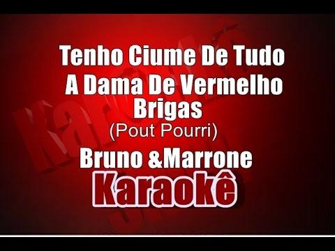 Tenho Ciúme De Tudo-A Dama De Vermelho-Brigas - Bruno e Marrone - Karaoke