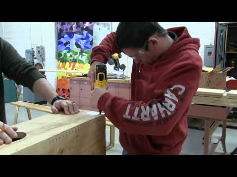 Seaford FFA Wood duck box build and install