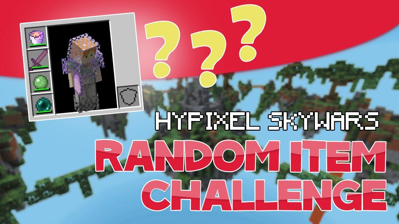 THE RANDOM ITEM TP CHALLENGE! ( Hypixel Skywars