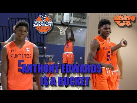 Anthony Edwards is a BUCKET  BATTLE FOR GEORGIA HIGHLIGHTS