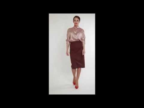 "Блуза оверсайз и юбка-карандаш из базовой коллекции ""A&E Collection"""
