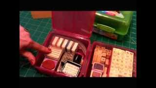 Washi & Stamp Storage In The Sistema Klip It Lunch Cube