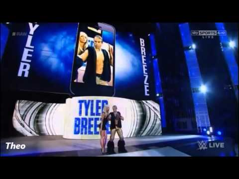 WWE Tyler Breeze entrance with (Summer Rae) 2015