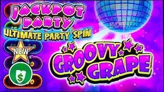 ⭐️ New - Jackpot Party Ultimate Party Spin Groovy Grape slot machine, bonus