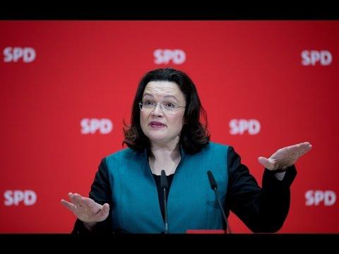 """Andrea Nahles: SPD schlägt """"Arbeitslosengeld Q"""" vor"""