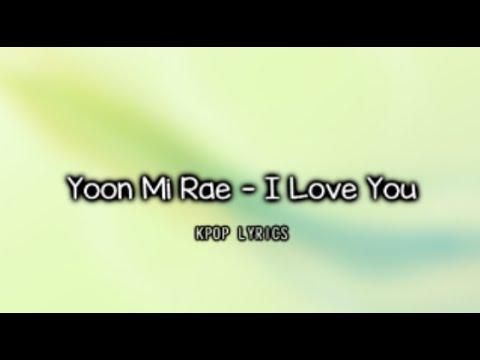 [Eng/Rom] Yoon Mi Rae - I Love You (It's Okay, That's Love OST)
