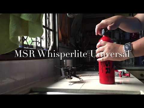 MSR Whisperlite Universal burning Kerosene fuel