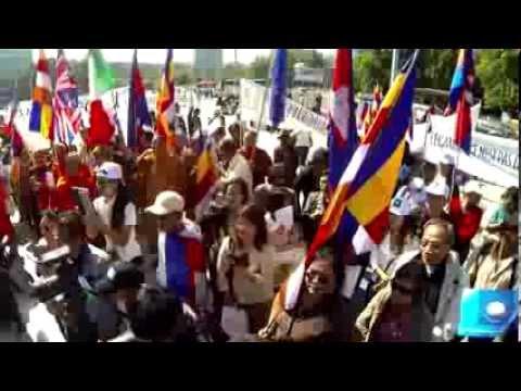 Manif Khmers devant l'ONU, Genève le 24-09-13 (version HD)