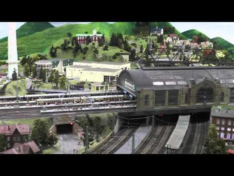 BR 103 with TEE train arrives at Hamborg Dammtor look a like station, MiWuLa, Hamburg