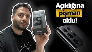 Türkiye'de ilk! Samsung Galaxy S21 Ultra Kutu Açılımı - Adaptör yok!