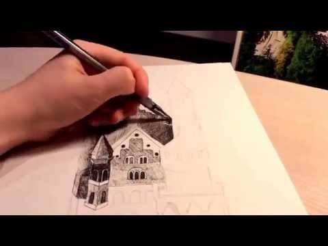 Замок.Детский рисунок