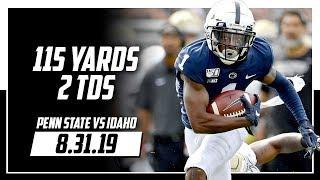 KJ Hamler Full Highlights Penn State vs Idaho | 4 Rec, 115 Yards, 2 TDs | 8.31.19