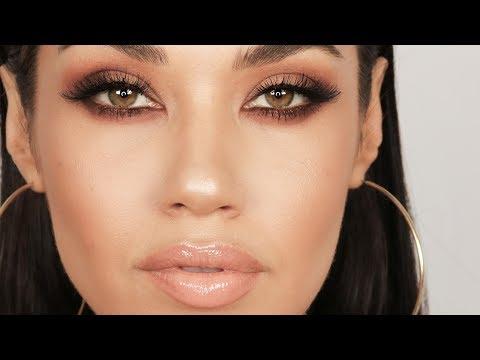 Matte Brown Smokey Eye Makeup Tutorial   Eman