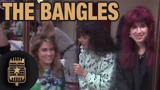 Girl group The Bangles are interviewed by TopPop's Leonie Sazias • Celebrity Interviews