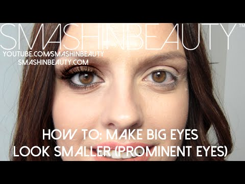 727d0d90ff5 How to make big prominent eyes look smaller (makeup for beginners ...