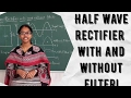 Half wave rectifier circuits|with and without filter|HWR|