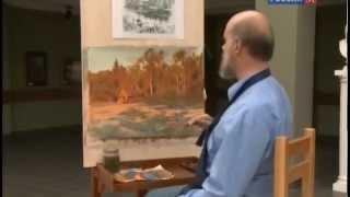 Уроки рисования с Сергеем Андриякой  Заросший пруд