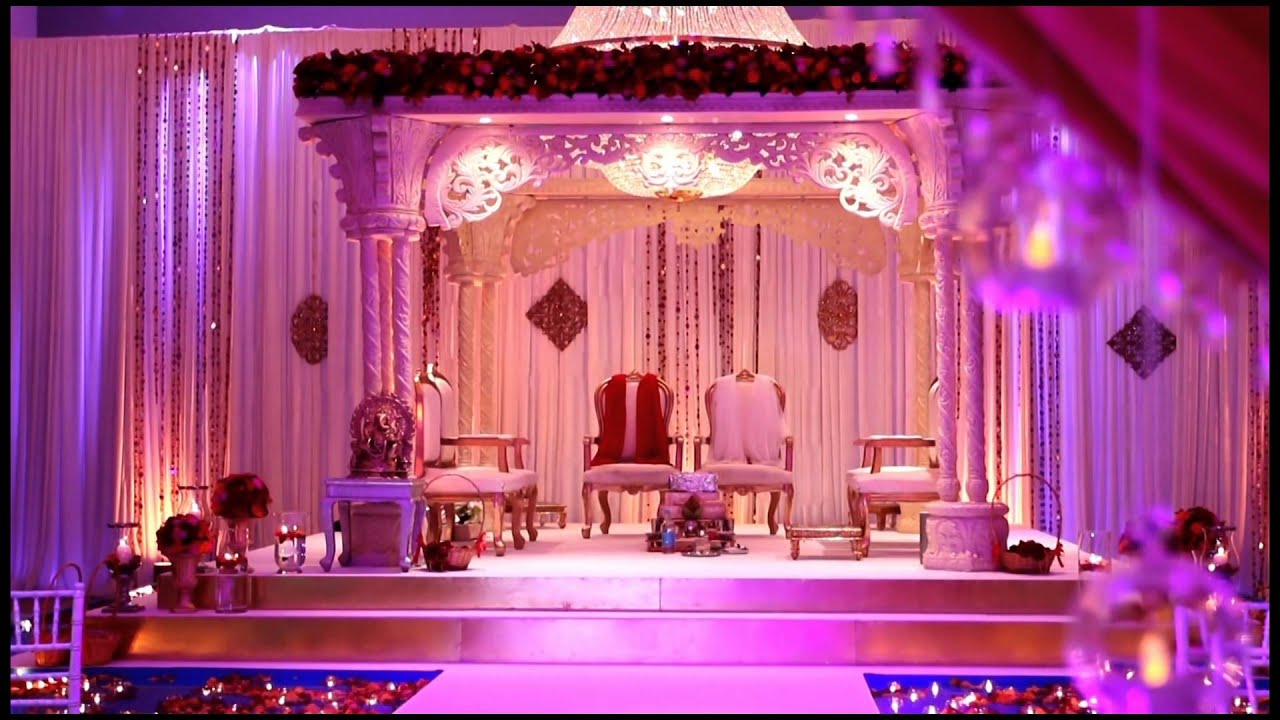 Meridian Grand - Hindu Wedding Ceremony Room Set Up - YouTube