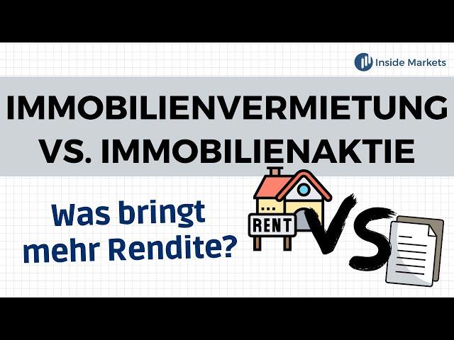 REITs vs. Immobilien - Was bringt mehr Rendite?