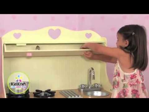cuisine prairie jouets en bois kidkraft sur youtube. Black Bedroom Furniture Sets. Home Design Ideas